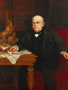 Portrait of Domingo Faustino Sarmiento. Eugenia Belín Sarmiento. Wikimedia Commons / Public Domain