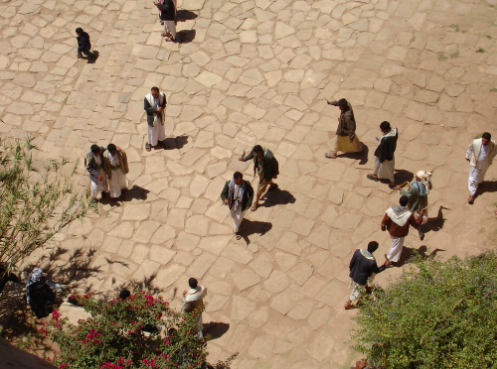 People crowded in Rock Palace, Yemen. stepnout. CC by 2.0