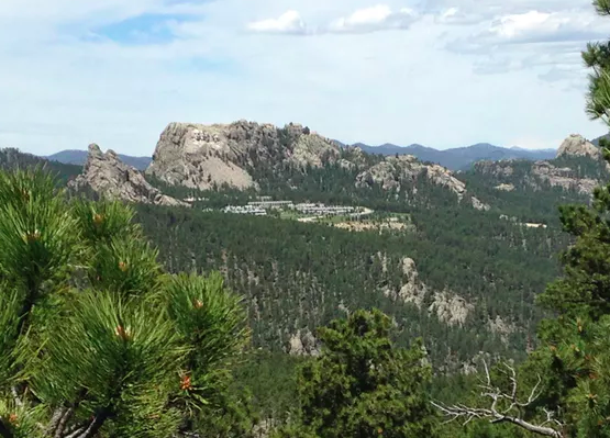 Mt. Rushmore National Memorial in South Dakota, viewed from the Peter Norbeck Overlook. Jennifer Ladino,  CC BY-ND