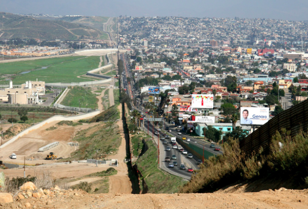 The U.S.-Mexico border, pictured here from the air, is receiving more attention as Afircan migrants cross it to seek asylum in the U.S. WikiImages. CC0.