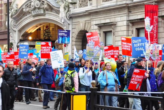 Climate change protesters. Michael Gwyther-Jones. CC BY 2.0