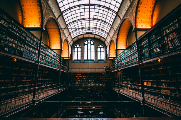 Photo of Library Hall in the Rijksmuseum by  Will van Wingerden  on  Unsplash . This is one of many buildings now off limits to people wearing burqas or niqabs.