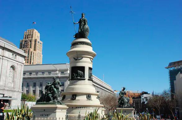 Frank Happersberger's pioneer monument, San Francisco, California, 1894. Lisa Allen.