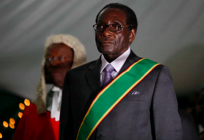 Robert Mugabe during his swearing-in ceremony in Harare, 2008. The former Zimbabwean president has died aged 95. EPA-EFE