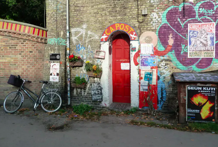 Community post office, Freetown Christiania. Helen Jarvis. , Author provided