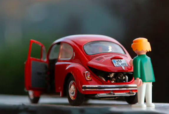 From filling up cars to plastic toy cars.  Steinar Engeland/Unsplash ,  CC BY