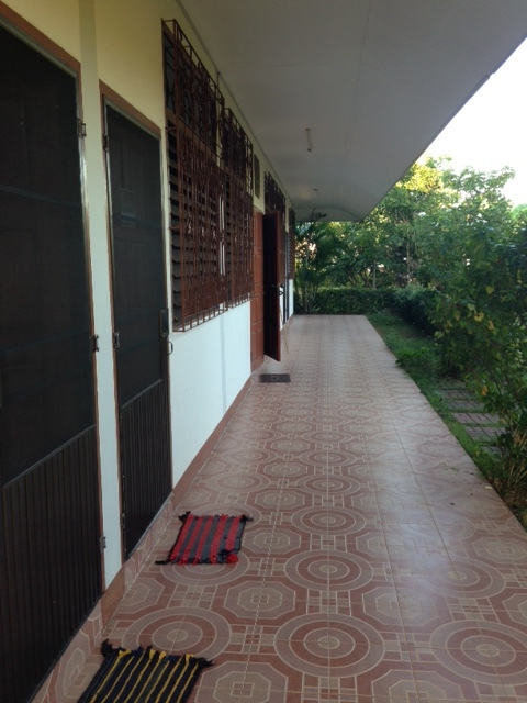 A shot of the front of our house: beginning with a door to our bedroom on the left