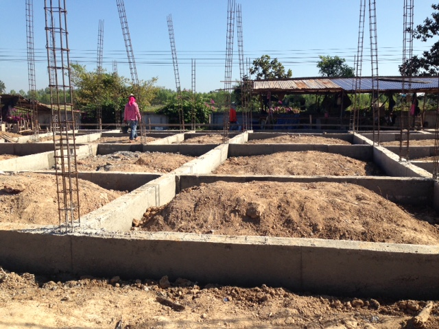 The new building (an extension of the Care Center) is underway at the Garden.