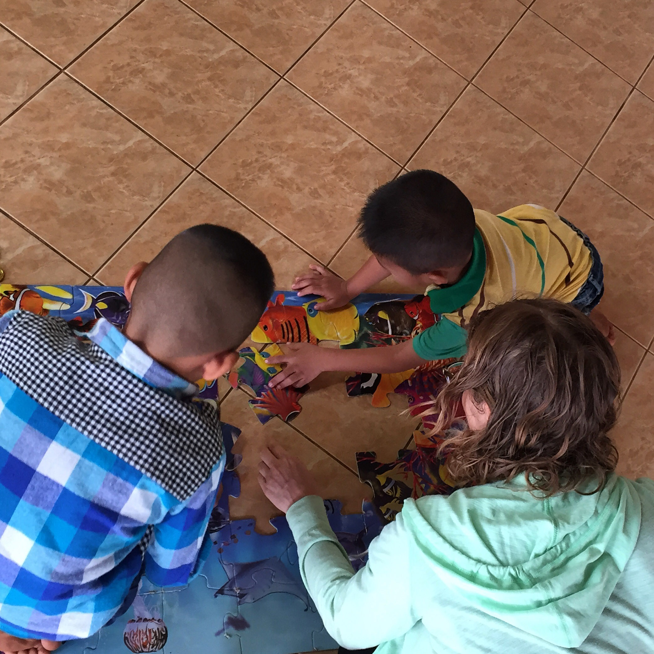 Susan and I put together puzzles with children on Saturday while their parents attended an education and activity day with the patients and social workers.