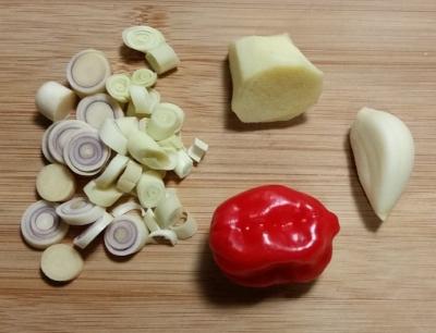 The zest: amounts needed. Lemongrass, ginger, garlic and habenero.  Enjoy.