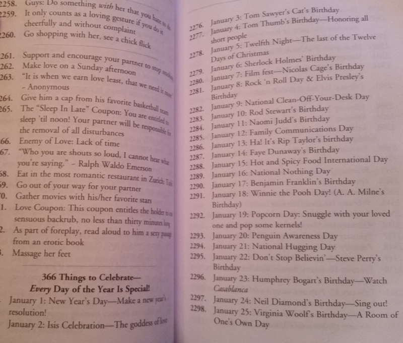 This goes on for 14 and a half pages. I Wonder what Richard Nixon (born January 9) did to get on Godek's enemies list.