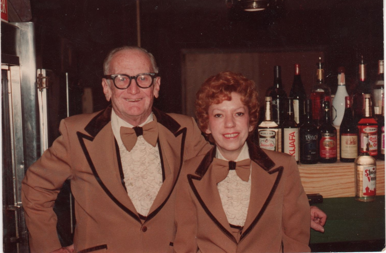 Aunt Bev with her brother-in-law, George (AKA Pops, my grandpa).