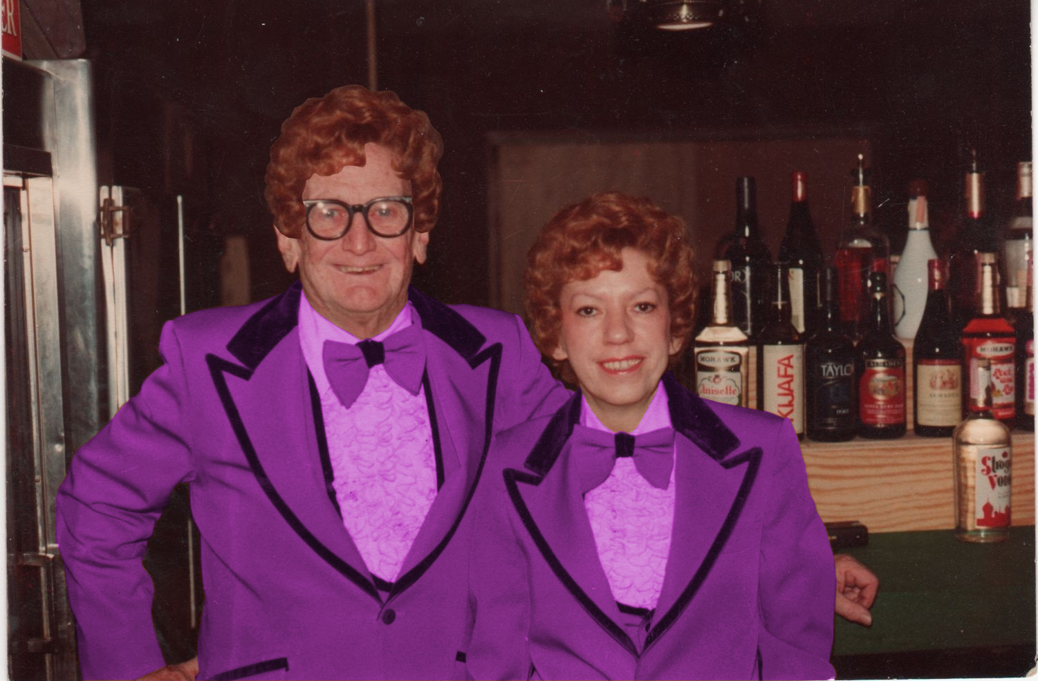 Pops with Beverly's purple tux.jpeg
