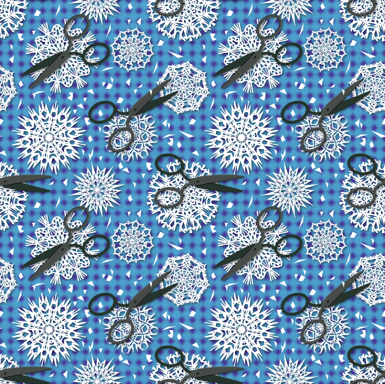 """This was also entered in a Spoonflower competition, """"Holidays Around the World."""" Since there'd probably be so many Christmas-themed entries, I wanted to go with something a little non-denominational."""