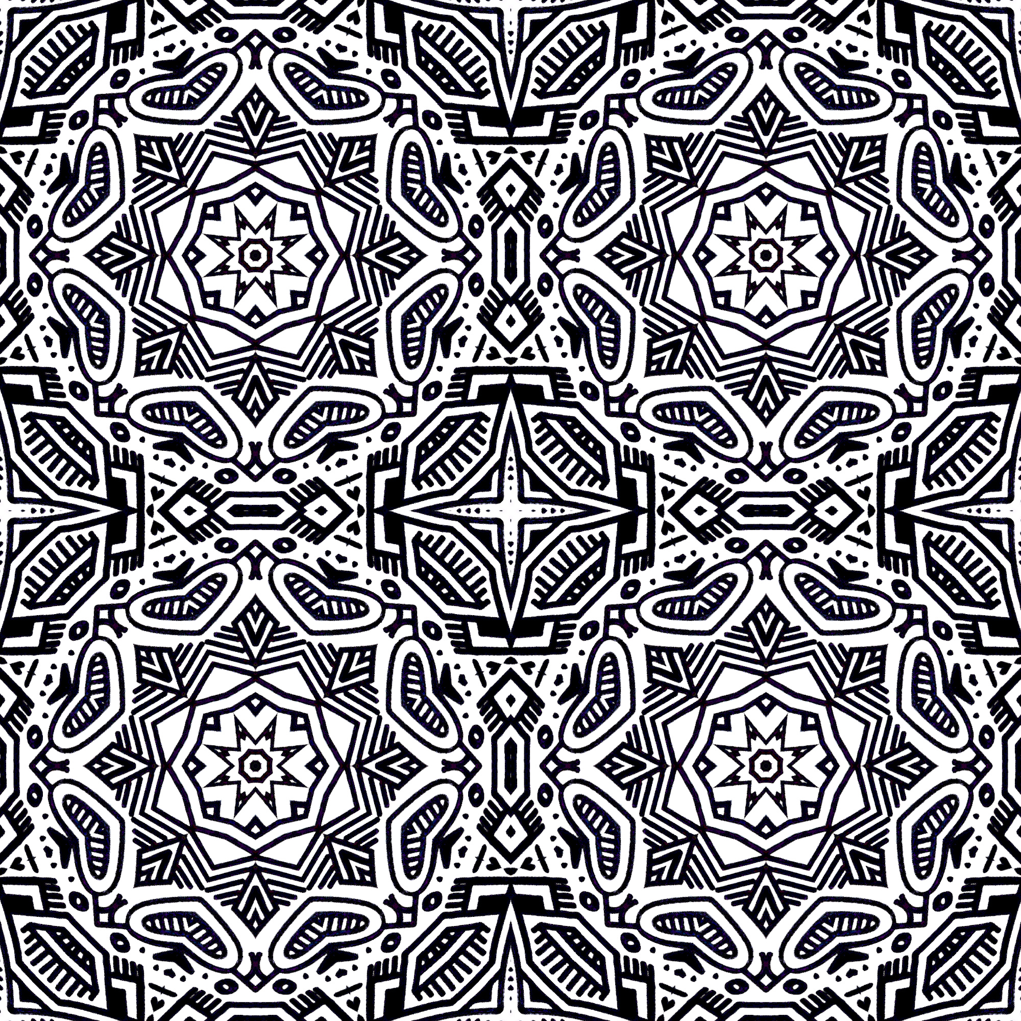 Tiled to ensure the pattern is pleasing to the eyeball. Always use a copy of the original layer so you don't lose it.