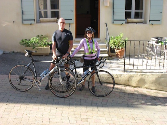 Biking in France - Judy Aveiro and Forrest