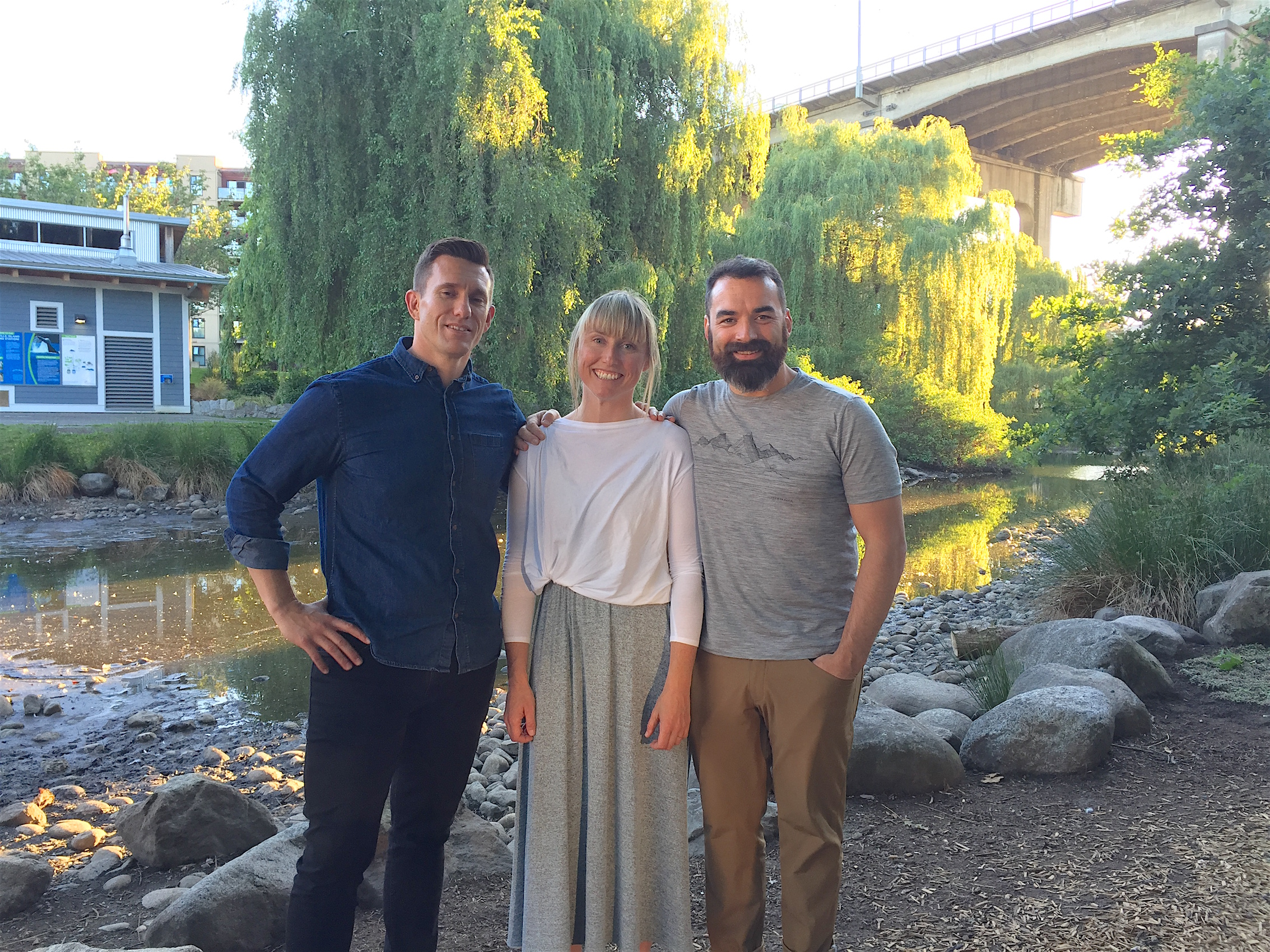 Mindful Mass founders Andy Zaremba, Carolyn Anne Budgell and Chad Weir.