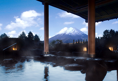 PHOTOGRAPH: VIEW OF MT. FUJI FROM HAKONE SPRINGS RESORT.