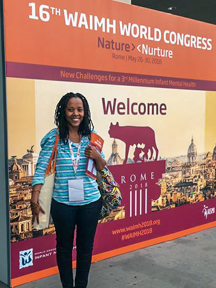 Research Director Nokwanda Grava at the 16th Annual World Association for Infant Mental Health (WAIMH) in Rome, Italy, May 2018.