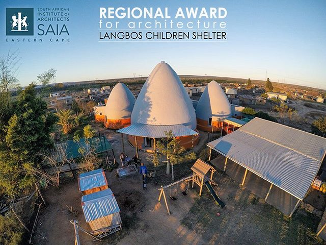 Jason Erlank Architects has won the South African Institute of Architects (SAIA) Regional Awards for Architecture for the Langbos Children's Shelter!  Congratulations to @JasonErlankArchitects, and thank you for your incredible design and hard work! . . . . .  #superadobe #naturalbuilding #ecobuilding #greenarchitecture #archidaily #archdaily #architecturedaily #dome #architexture #interestingdesign #amazingdesign #artytecture #inspirationdaily #architectanddesign #checkoutafrica #changetheworld #southafrican #aerial #aerialphotograph #gopro #wohza #architectview #architecturenow #designindaba #designlovers @goproza  @gopro