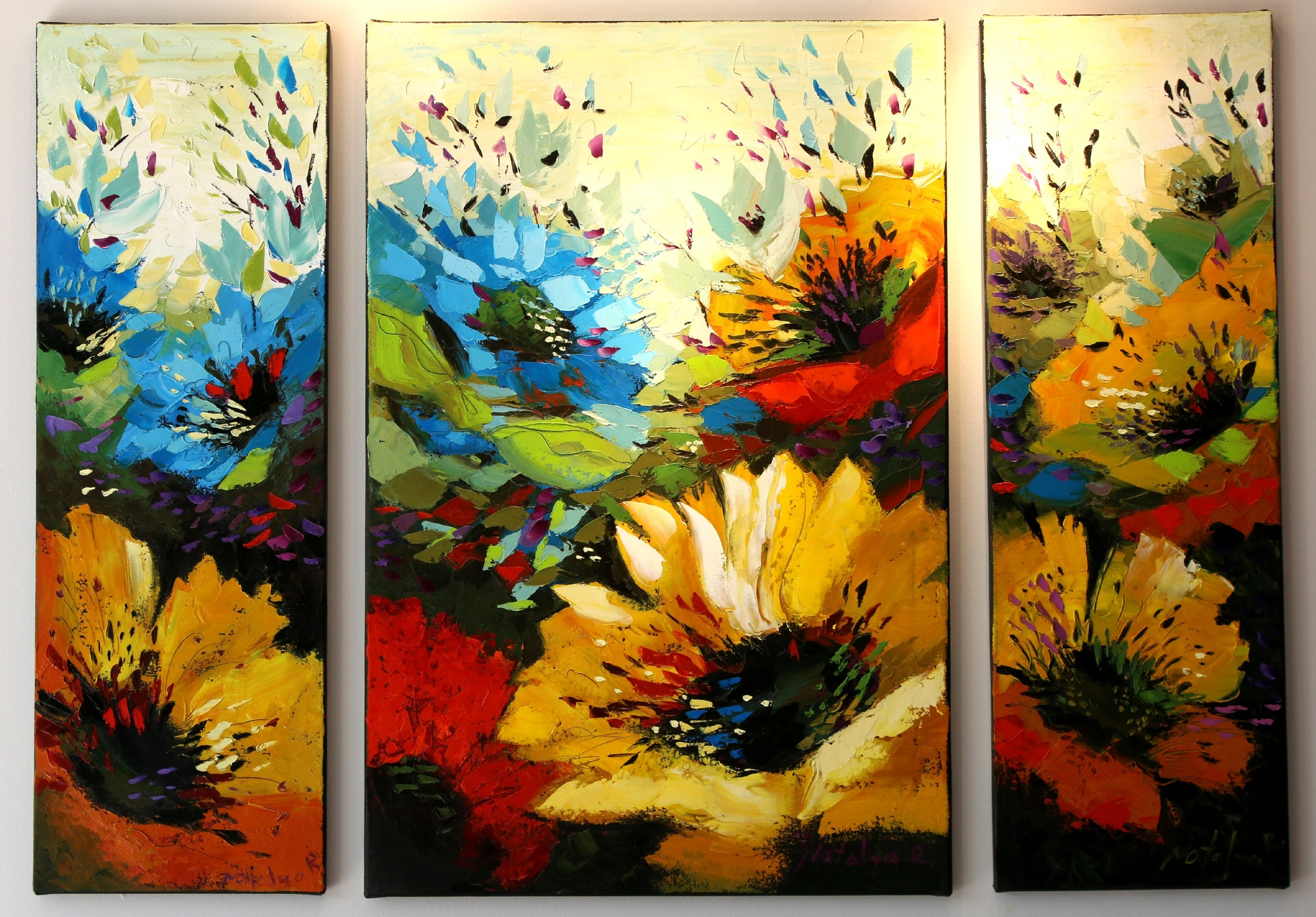 Stunning and vibrant new Triptych piece.