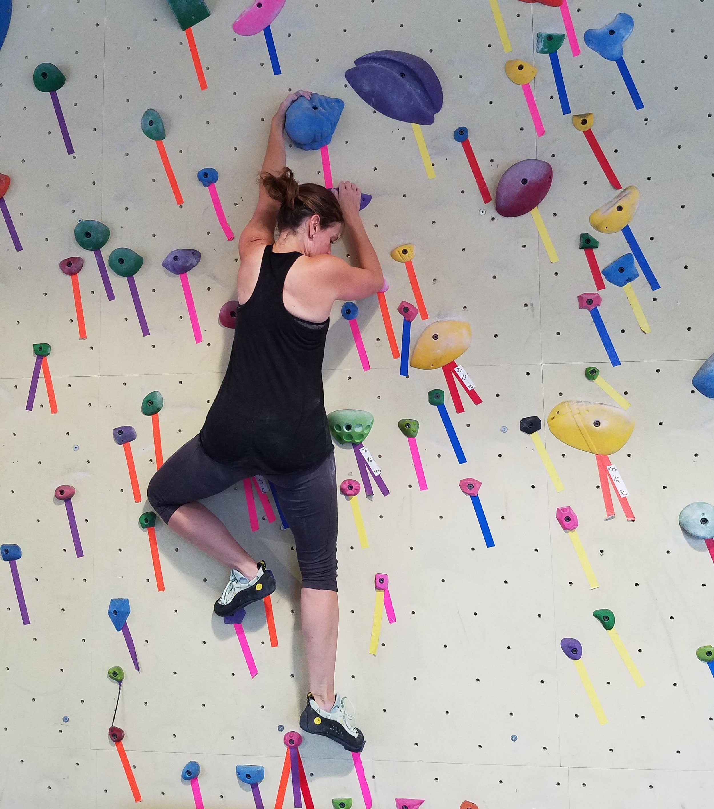 Me climbing at the Philly Rock Gym Wyncote location.