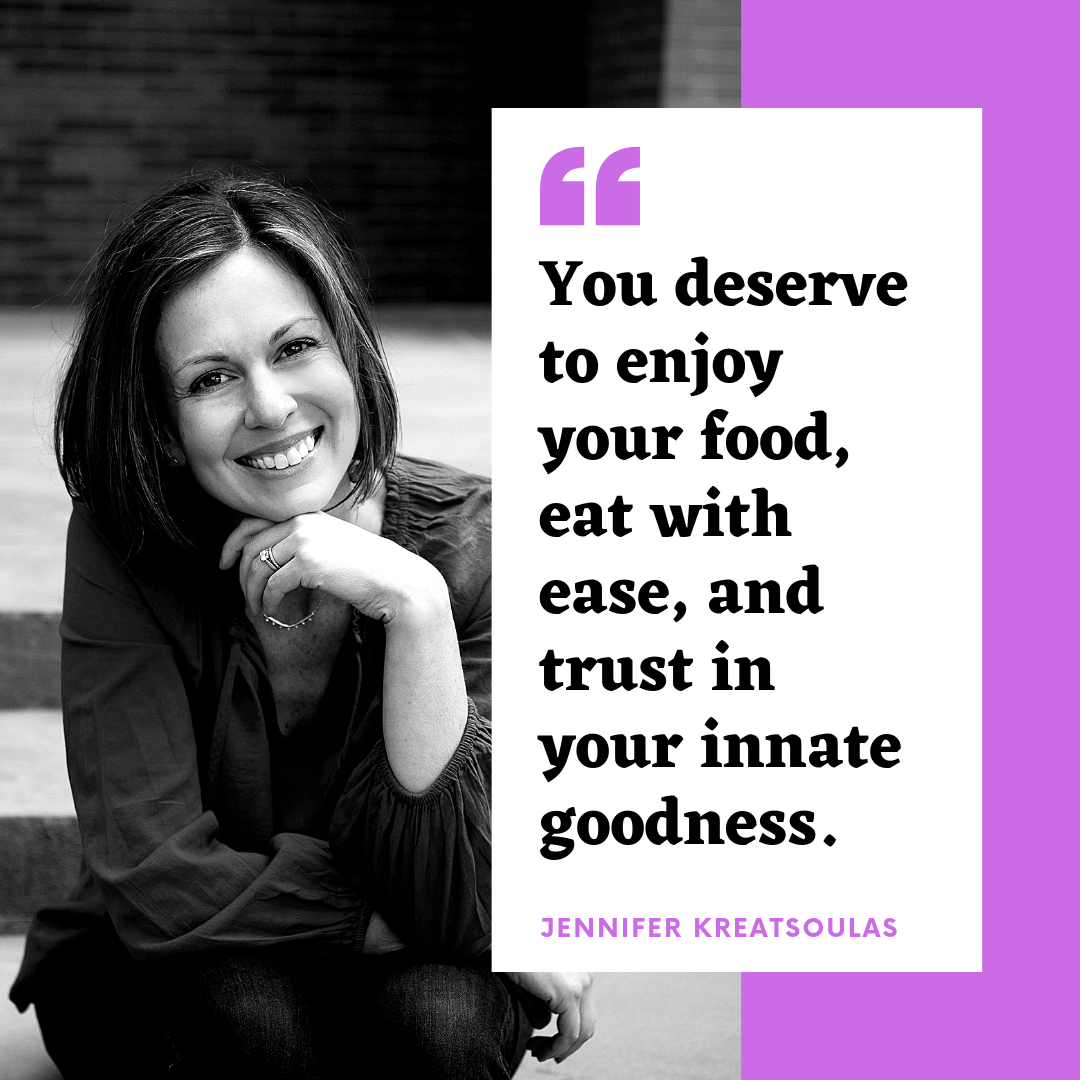 """Check out my new online course,   Overcoming Food Guilt With Body Mindful Yoga  , and learn to let go of """"good food/bad food"""" thinking and living."""