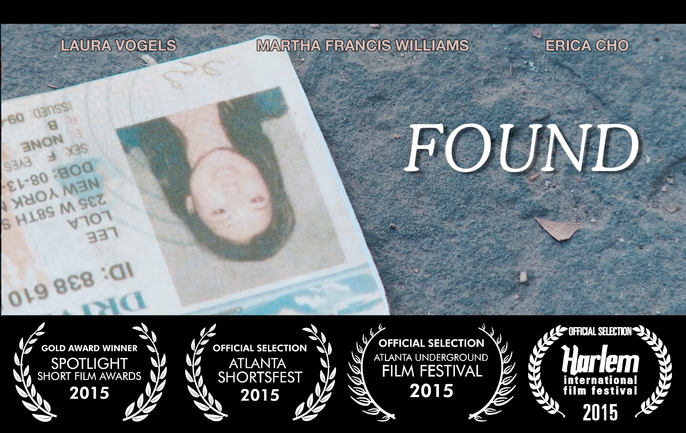 So excited to announce  Found  is a  Gold Award Winner  in the Spotlight Short Film Awards!! Take a look  here.