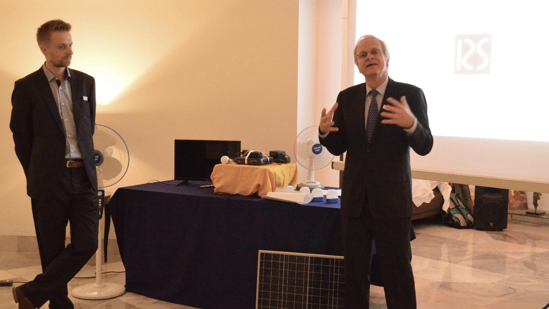 Dutch Ambassador Alphonso Stoelinga opening the event.