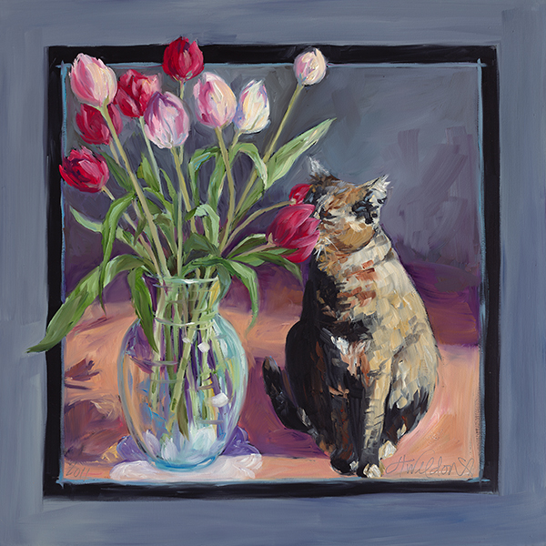 """Stop and Smell the Tulips""24x24"