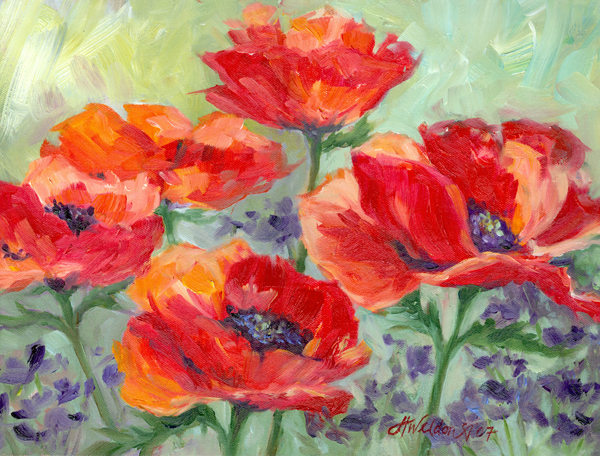 """Poppies and Purple"""