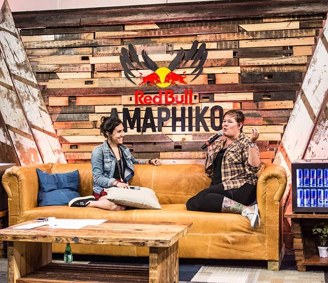 A conversation between @claireloves_you founder of @ladiesgetpaid and @nothingelegant founder of @detroitsoup during the @redbullamaphiko academy in Baltimore summer of 2017. #redbullamaphiko #ladiesgetpaid #soup #socialinnovation #redbullamaphikoacademy #eventproduction #producers #eventdesign #baltimore #fabrication #newcreatures #entrepreneur