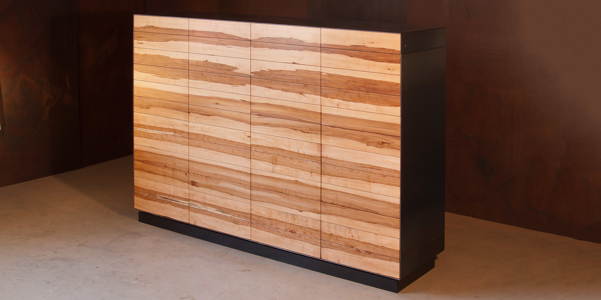 highboard apfel | schwarzstahl, küchenmöbel