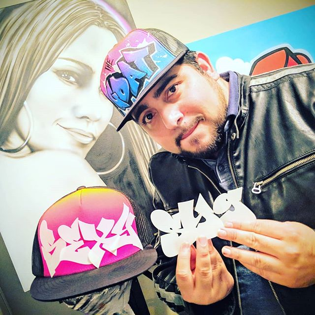 Graff letter stencils 😜 to the rescue for them airbrush artist who wants to add an extra style and flavor into their tool kit.. . . Stencils by Chino @cnabong . . . . . . . . . . . #airbrush #airbrushing #airbrushart #airbrushgraffiti #graffitialphabet #graffitiletters  #graffwriter #graffstyle #lettering #stencils #stencilart #stencil #airbrushhats