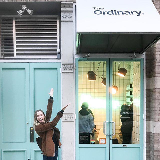 I found the tiny Ordinary store!! @deciem ❤️