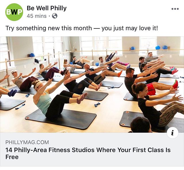 Thanks for the feature @bewellphilly! Come try your first class with us for FREE 👏🏼