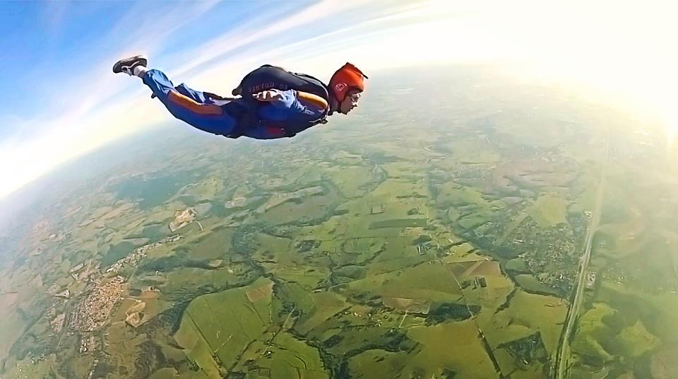Made 16 skydiving jumps before losing my license.