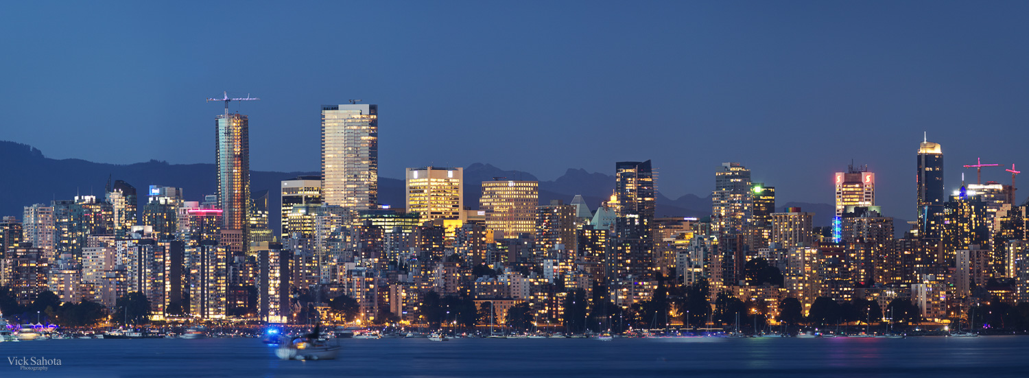 Downtown Vancouver from Jericho Beach
