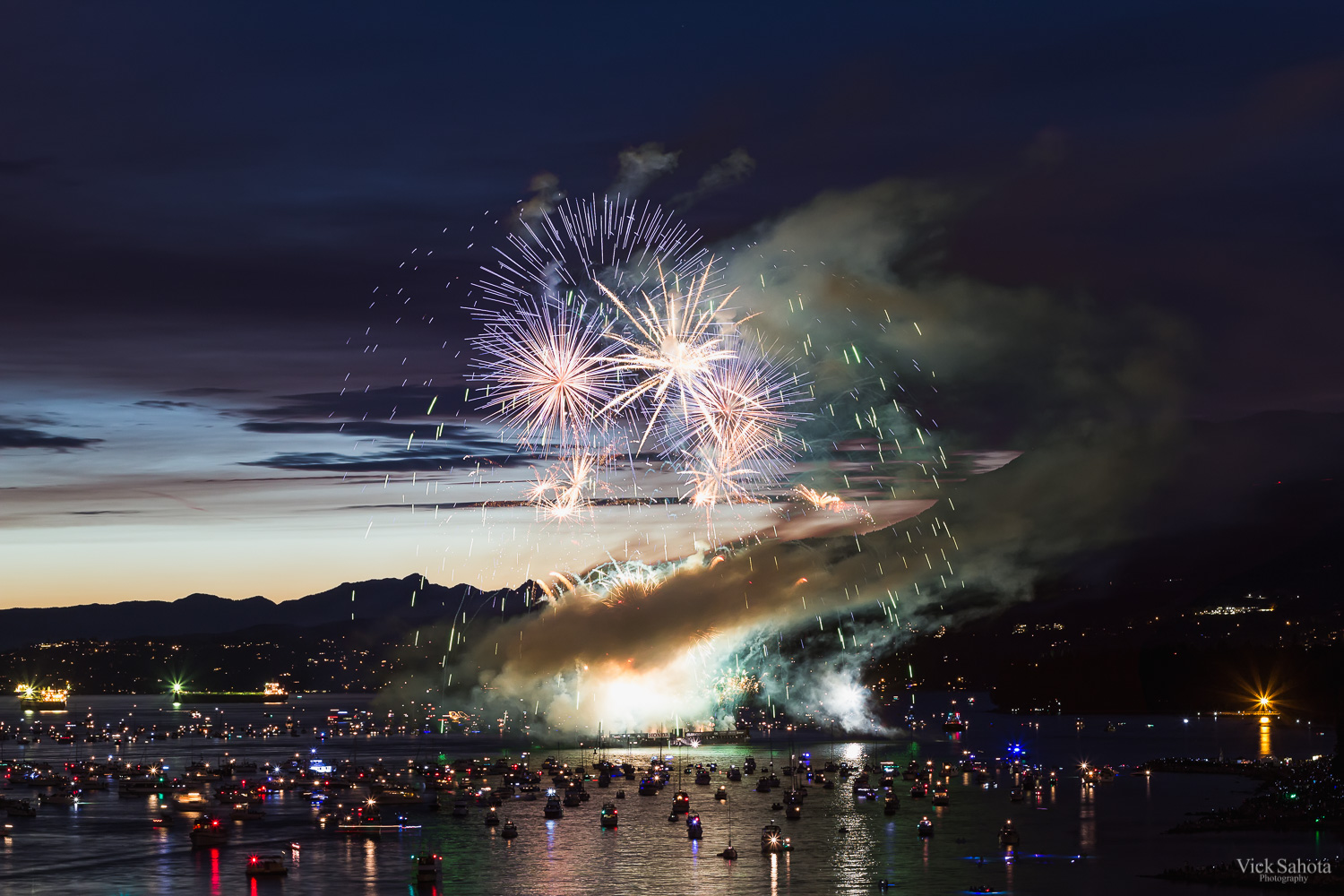 Canada Celebration of Light Fireworks (The smoke kind of reminds me of a dragon for some reason)!