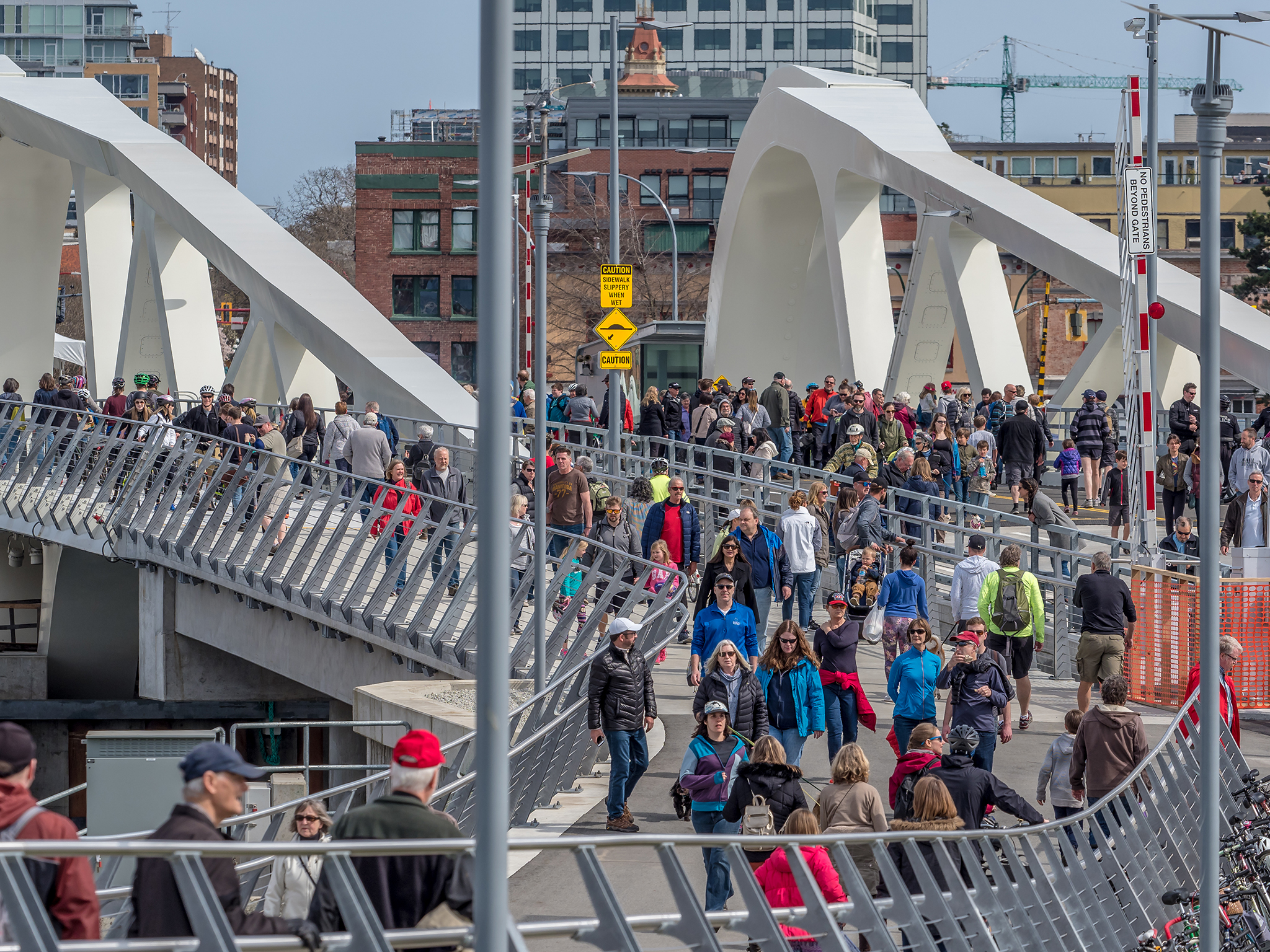 Opening of the new Johnson Street Bridge.