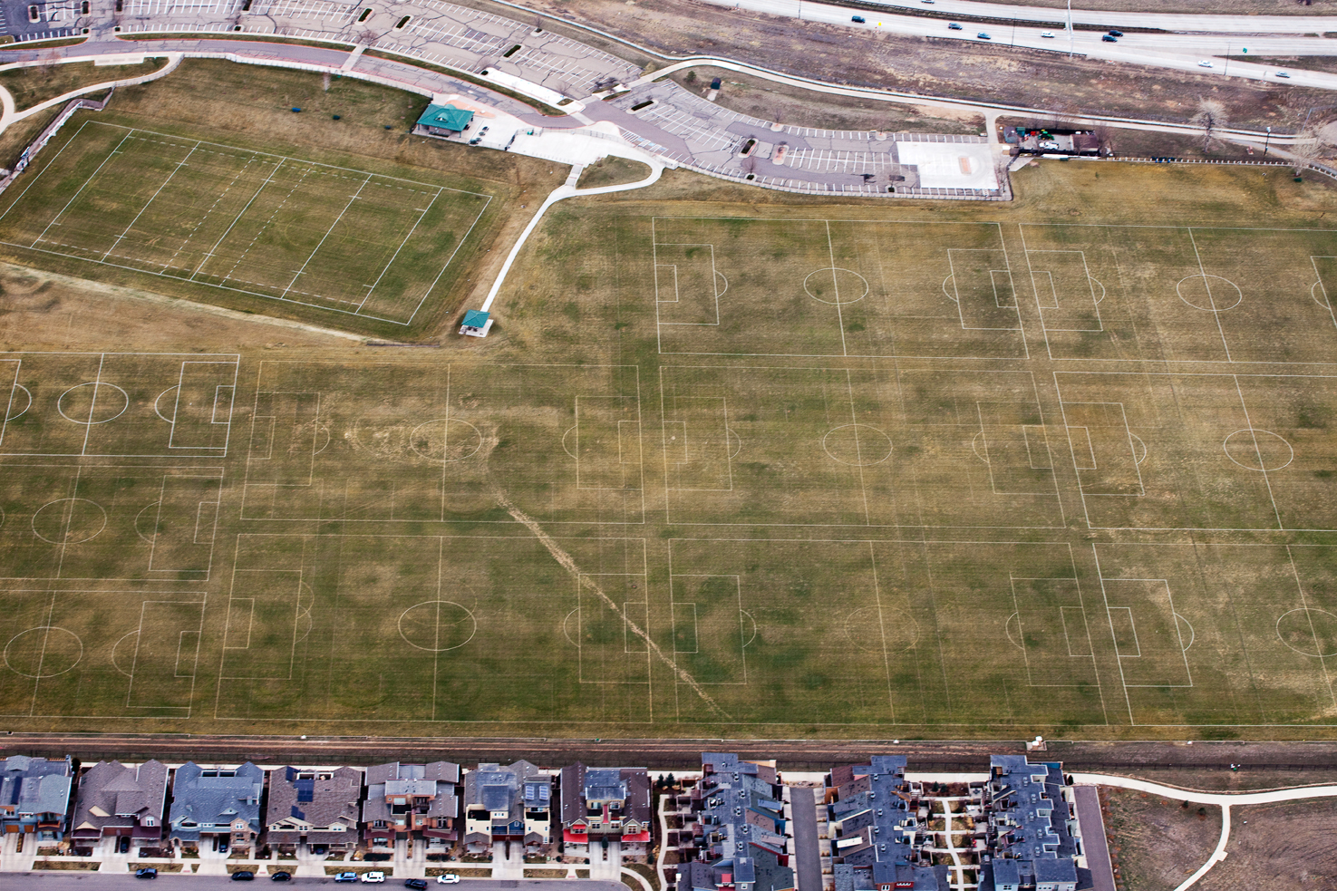 Sports fields from above
