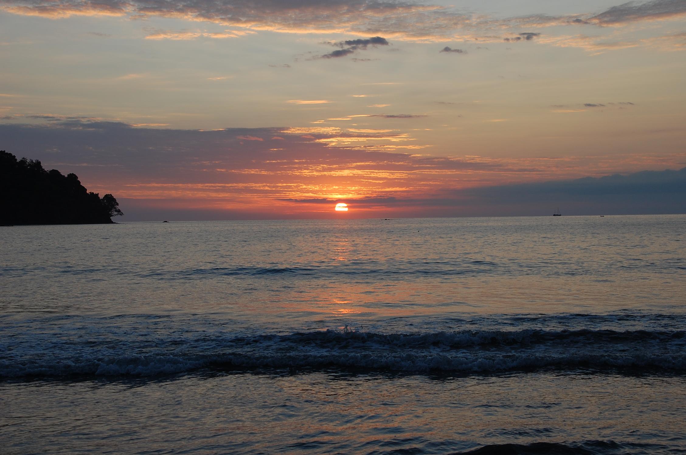 Tulemar Beach at Sunset
