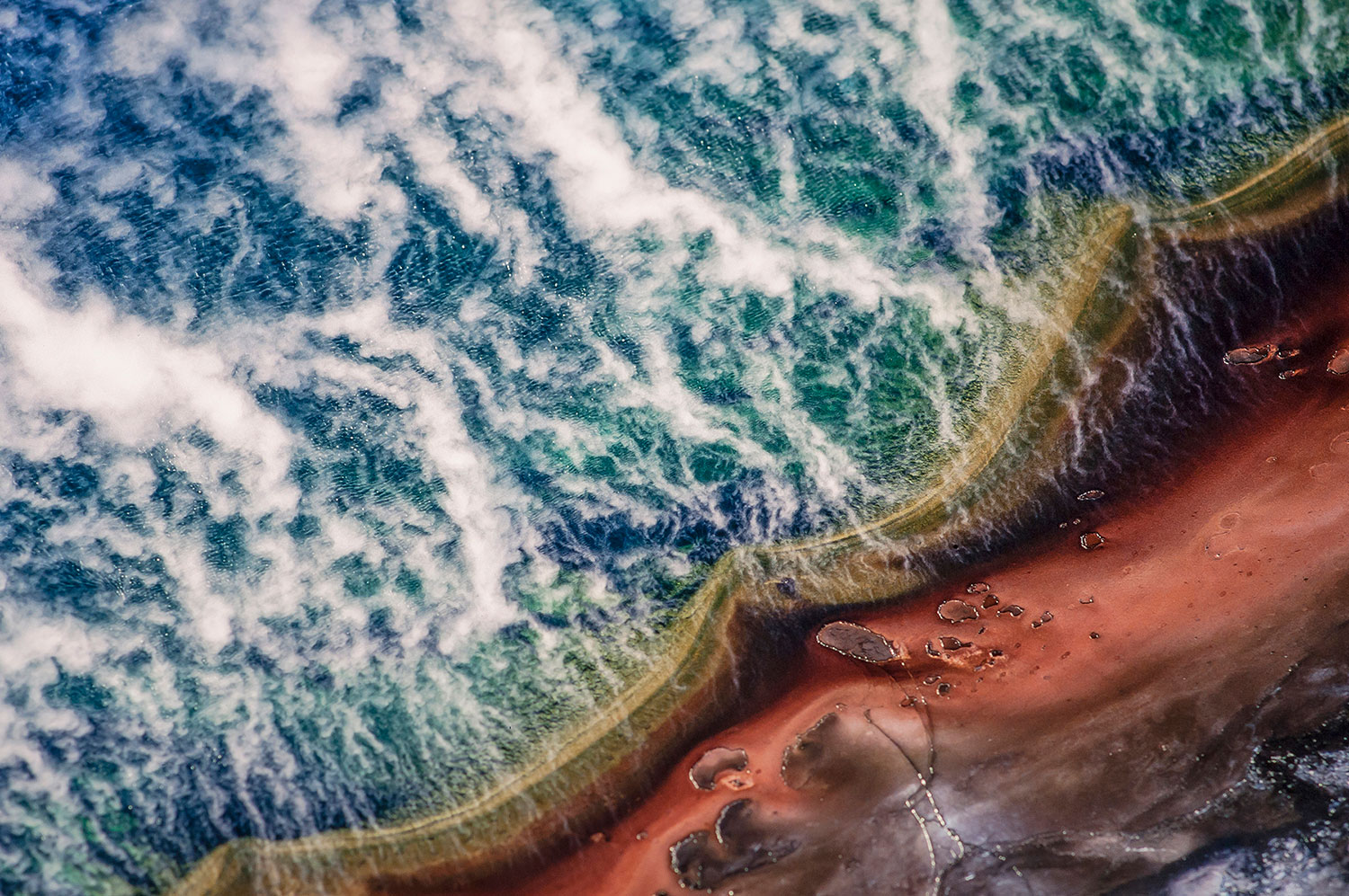 Aerial photo of the Grand Prismatic, Yellowstone Park