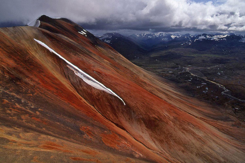 Aerial photo of the Spectrum Range, BC
