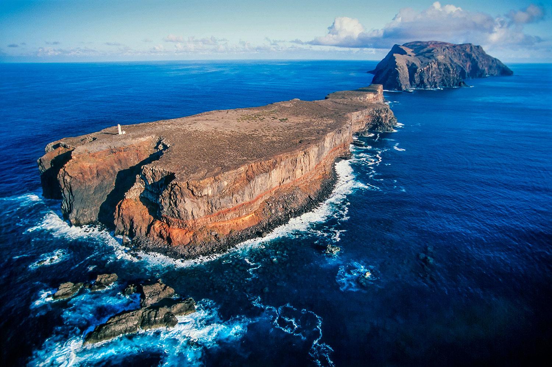 Aerial photo of the Desertas Islands, Portugal