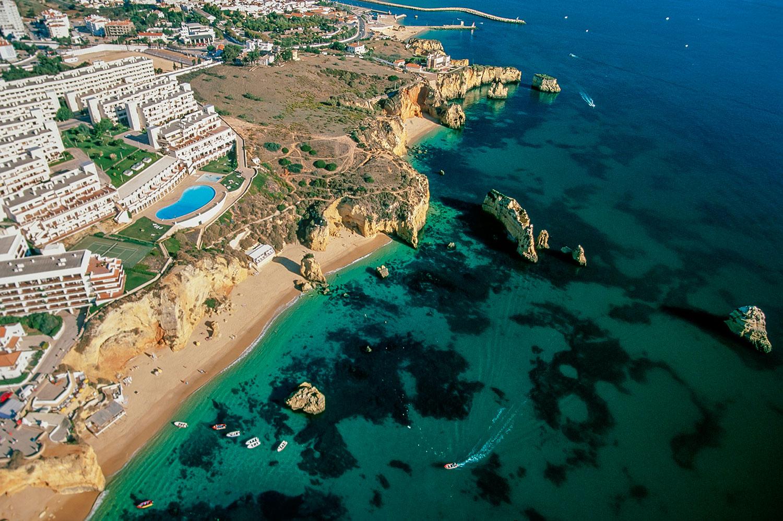 Aerial photo of the Algarve, Portugal