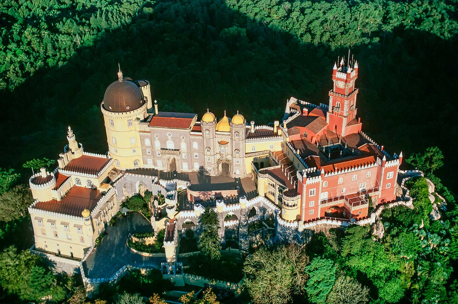 Aerial photo of Sintra, Portugal