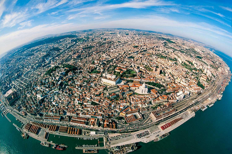 Aerial photo of Lisbon, Portugal