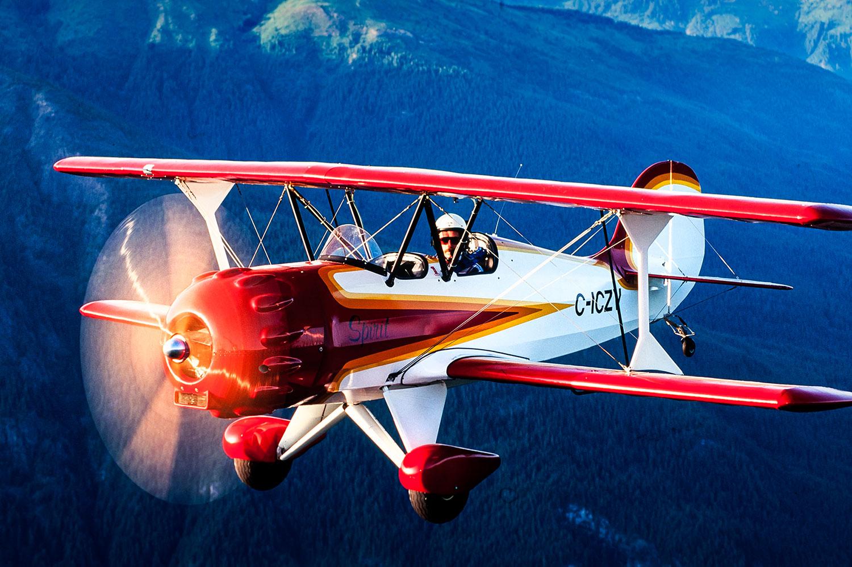 "Aerial photo of a Murphy Aviation ""Spirit"""