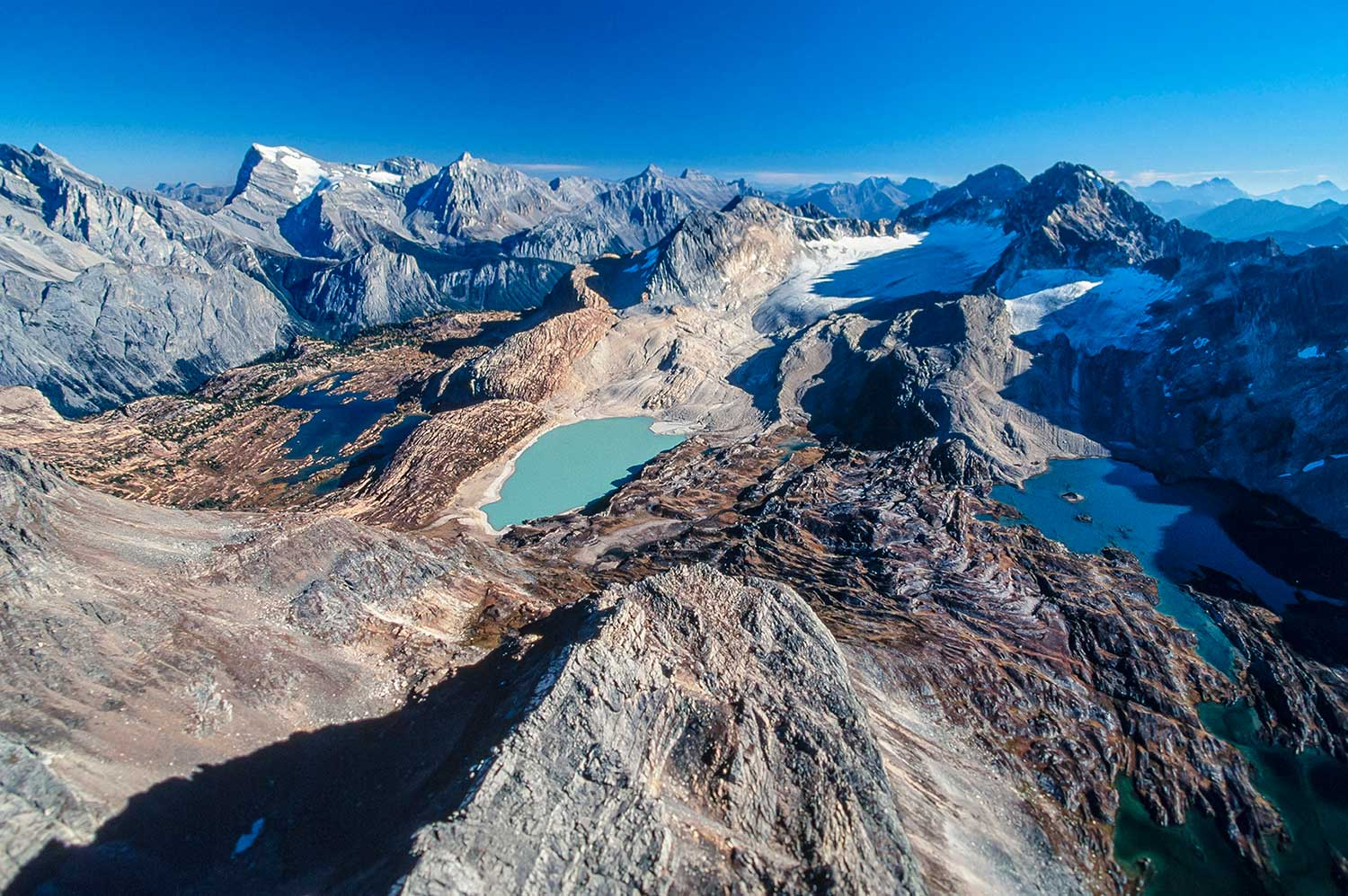 Aerial photo of the Height of the Rockies Provincial Park, BC